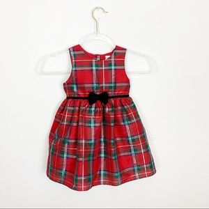 George Plaid Lined Holiday Dress Size 3T